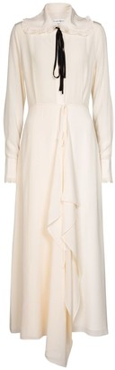 Victoria Beckham Ruffled silk maxi dress