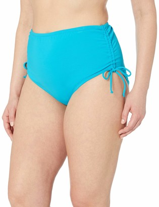 BEACH HOUSE WOMAN Women's Plus Size High Waist Bikini Bottom Swimsuit with Adjustable Side Tie