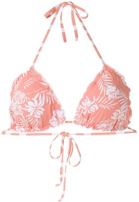 Track & Field Essence printed bikini top