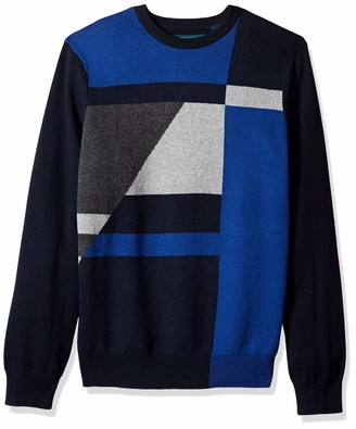 Perry Ellis Men's Color Block Sweater