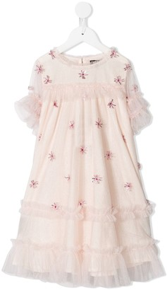 Velveteen Laylani tulle layer dress