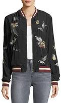 philosophy Embroidered Crepe Bomber Jacket