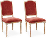 Sarreid Ltd. Zinnia Velvet Side Chairs, Pair