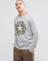 Converse C75 Cp Graphic Crew Sweatshirt In Grey 10002180-a01
