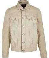 River Island MensEcru denim jacket