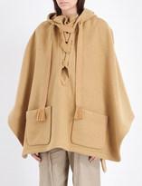 Chloé Hooded wool-blend cape