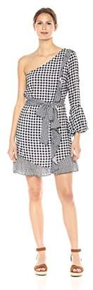 Ella Moon Women's Molly Gingham One Shoulder Dress