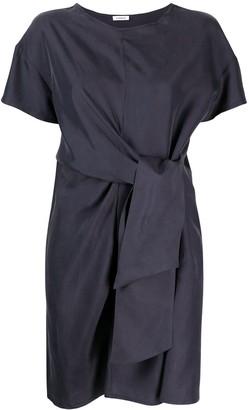 P.A.R.O.S.H. tied-waist silk T-shirt