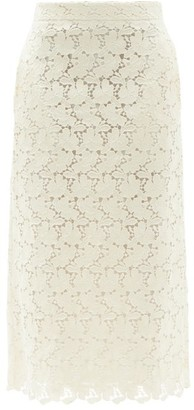 Brock Collection Stella Cotton-blend Macrame-lace Pencil Skirt - Ivory