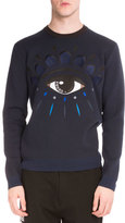 Kenzo Embroidered Eye Iconic Crewneck Sweatshirt, Navy