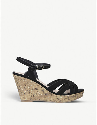 Selfridges Parisian wedge heel faux-suede sandals