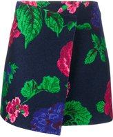 MSGM floral wrap a-lskirt - women - Polyamide/Polyester/Wool - 44