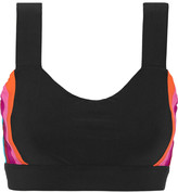 NO KA 'OI No Ka'Oi Hina paneled stretch-jersey sports bra