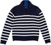 Nautica Little Boys' Striped Shawl Collar Sweater (4-7)
