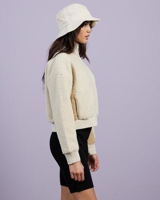 Champion Women's White Jackets - Sherpa Jacket - Size XL at The Iconic