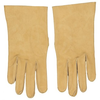 Hermã ̈S HermAs Beige Leather Gloves