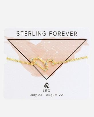 Express Sterling Forever Gold Leo Constellation Bolo Bracelet