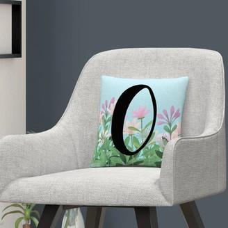 Winston Porter Nicastro Garden Letter Decorative Floral Throw Pillow Letter: O