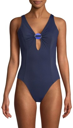 Amoressa By Miraclesuit Crete Electra Plunge One-Piece Swimsuit