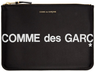 Comme des Garcons Wallets Wallets Black Large Huge Logo Pouch