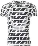 Giorgio Armani All Over Eagle Logo Crew Neck T-shirt