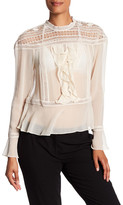 Tracy Reese Flounce Victorian Silk Blouse