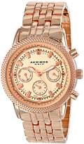 """Akribos XXIV Women's AK722RG """"Lady Diamond"""" Rose Gold-Tone Watch"""