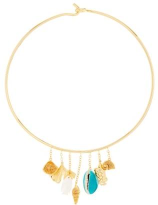 Aurélie Bidermann Aurelie Bidermann - Aguas Shell-charm Gold-plated Choker Necklace - Womens - Gold