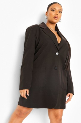 boohoo Plus Oversized Blazer Dress