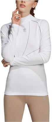 adidas Women Mock-Neck Long-Sleeve Shirt