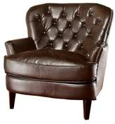 Great Deal Furniture Raymond Brown Leather Chair