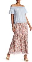 Max Studio Floral Print Maxi Skirt