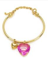 Juicy Couture Crystal Heart Slider Bangle Bracelet