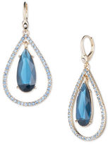 Ivanka Trump Faceted Epoxy and 10K Gold-Plated Orbital Earrings