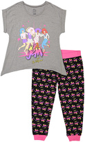 Briefly Stated Gray Jem & the Holograms Pajama Set - Juniors