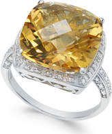 Macy's Citrine (6 ct. t.w.) & Diamond Accent Ring in Sterling Silver
