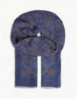 Eton Paisley print scarf