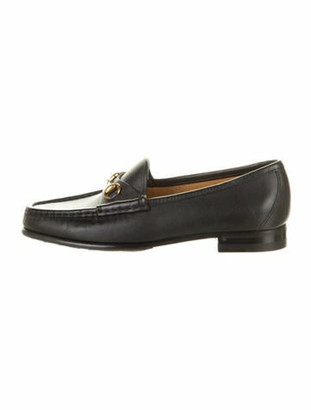Gucci Leather Loafers Black