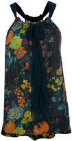 Raquel Allegra floral pleated top