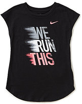 Nike Little Girls 2T-6X We Run This Jersey Short-Sleeve Tee