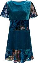 Alberta Ferretti floral devoré dress