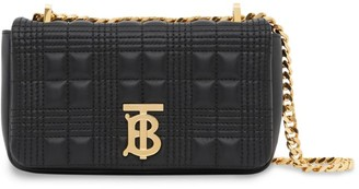Burberry Mini Quilted Leather Lola Shoulder Bag