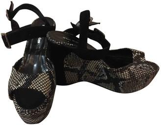 The Kooples Ecru Leather Sandals