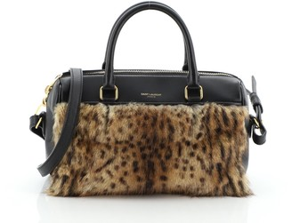 Saint Laurent Classic Baby Duffle Bag Leather with Fur