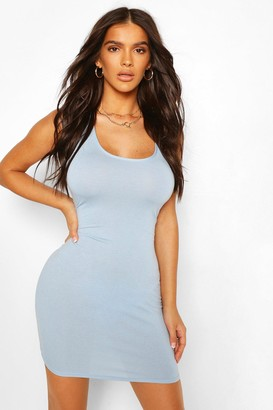 boohoo Scoop Neck Sleeveless Bodycon Dress
