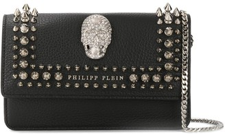 Philipp Plein crystal-skull studded cross-body bag