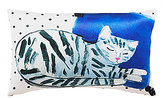 Kate Spade Cat Nap Dotted Silk & Cotton Oblong Feather Pillow
