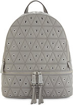 MICHAEL Michael Kors Rhea quilted grommeted leather backpack