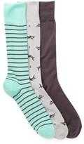 Cole Haan 3-Pair Novelty Socks