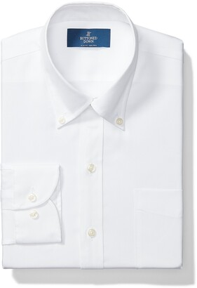 """Buttoned Down Slim Fit Solid Pocket Options Dress Shirt White) 15.5"""" Neck 34"""" Sleeve"""
